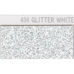 434 Glitterová bílá nažehlovací fólie Poli-Flex / Glitter white