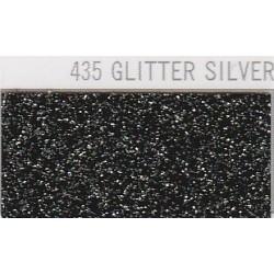 435 Stříbrná Glitter nažehlovací fólie / POLI-FLEX