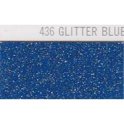 436 Modrá Glitter nažehlovací fólie / POLI-FLEX