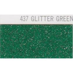 437 Zelená Glitter nažehlovací fólie / POLI-FLEX