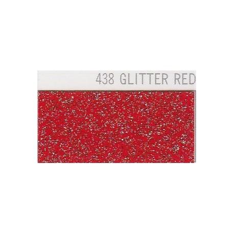 438 Červená Glitter nažehlovací fólie / POLI-FLEX
