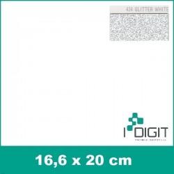 Nažehlovací fólie glitrová bílá / GLITTER WHITE 434 (arch)