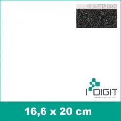 Nažehlovací fólie glitrová stříbrná / GLITTER SILVER 435 (arch)