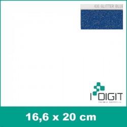 Nažehlovací fólie glitrová modrá / GLITTER BLUE 436 (arch)