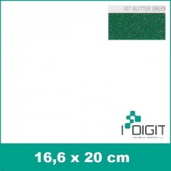 Nažehlovací fólie glitrová zelená / GLITTER GREEN 437 (arch)