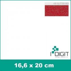 Nažehlovací fólie glitrová červená / GLITTER RED 438 (arch)