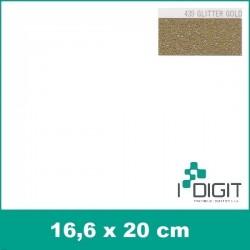 Nažehlovací fólie glitrová zlatá / GLITTER GOLD 439 (arch)
