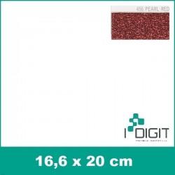 456 Perleťová červená nažehlovací fólie Poli-Flex / Pearl red (arch)