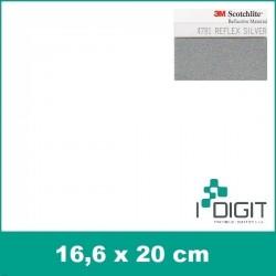 4781 Reflexní stříbrná 3M Nažehlovací fólie Poli-Flex / Reflex silver 3M (arch)