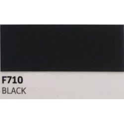 F710 BLACK TURBO Nažehlovací fólie / Černá
