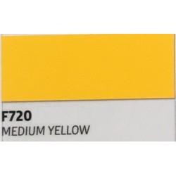 F720 MEDIUM YELLOW TURBO Nažehlovací fólie / Středně žlutá