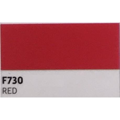 F730 RED TURBO Nažehlovací fólie / Červená