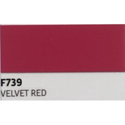 F739 VELVET RED TURBO Nažehlovací fólie / Sametově červená