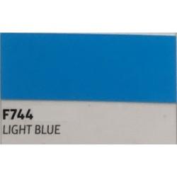 F744 LIGHT BLUE TURBO Nažehlovací fólie / Světle modrá