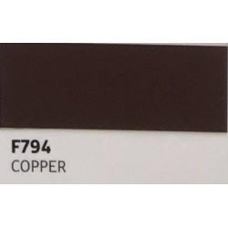 F794 COPPER  TURBO Nažehlovací fólie / Měděná