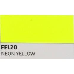 FF20 Neonově žlutá TURBO FLEX B-FLEX nažehlovací fólie / Neon yellow