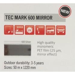 600 Stříbrná Zrcadlová plotrová fólie / Plotr Silver / lesk