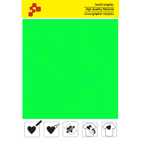 441A Neonově zelená (Arch) nažehlovací fólie / POLI-FLEX PREMIUM