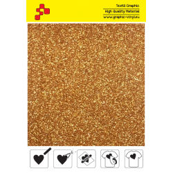 429A Perleťová tmavě zlatá (Arch) nažehlovací fólie / Poli-flex