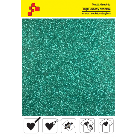 427A Perleťová smaragdová (Arch) nažehlovací fólie / POLI-FLEX