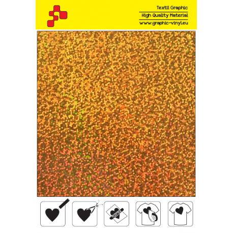 IDL792A Zlatá Glam (Arch) nažehlovací fólie / iDigit