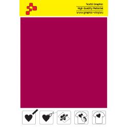 F739A Sametově červená (Arch) Turbo flex nažehlovací fólie / B-flex