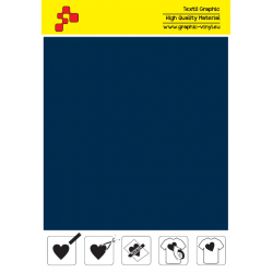 F748A Námořnická modrá (Arch) Turbo flex nažehlovací fólie / B-flex