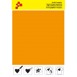FFLUO30A Neonově oranžová (Arch) Turbo flex nažehlovací fólie / B-flex