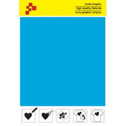 FFLUO46A Neonově modrá (Arch) Turbo flex nažehlovací fólie / B-flex