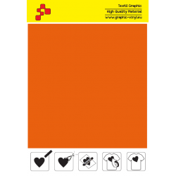 BF T734A Oranžová Fatty (Arch) nažehlovací fólie / B-flex