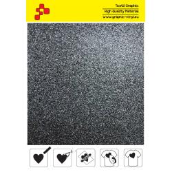 BF G710A Černá Glitter (Arch) nažehlovací fólie / B-flex