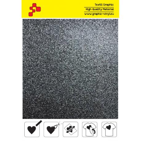 IDG710A Černá Glitter (Arch) nažehlovací fólie / iDigit