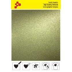 BF G792A Zlatá Glitter (Arch) nažehlovací fólie / B-flex