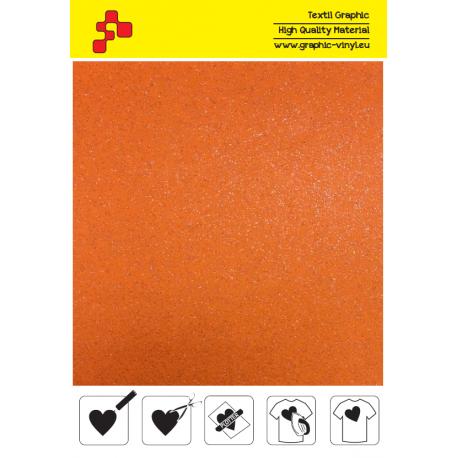 IDG734A Neonově oranžová Glitter (Arch) nažehlovací fólie / iDigit