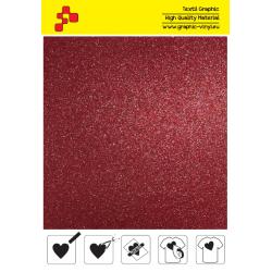 BF G730A Červená Glitter (Arch) nažehlovací fólie / B-flex
