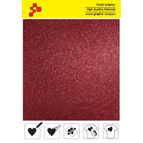 IDG730A Červená Glitter (Arch) nažehlovací fólie / iDigit