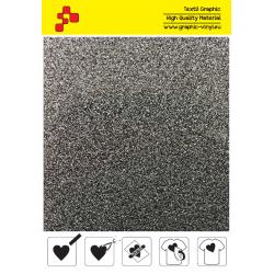 435A Glitterová stříbrná (Arch) nažehlovací fólie / POLI-FLEX PREMIUM