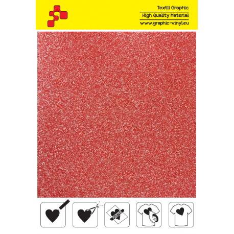 438A Glitterová červená (Arch) nažehlovací fólie / Poli-flex