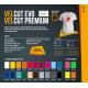 VelCut Evo Černá 06 semišová nažehlovací fólie / SEF Textile