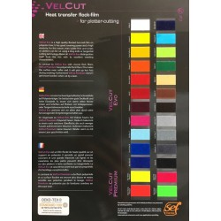 S000 Vzorník A4 Flock VelCut Evo Premium / SEF Textile