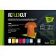 Reflexcut Stříbrná FR9 nehořlavá reflexní nažehlovací fólie / SEF Textile