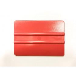 Tvrdá plastová špachtle červená