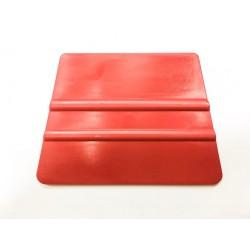 Tvrdá plastová lichoběžníková špachtle červená
