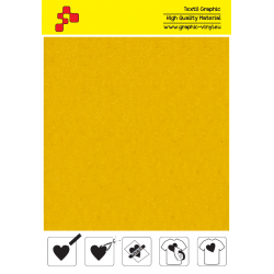 IDVCE02A Citrónová (Arch) semišová nažehlovací fólie / iDigit