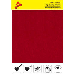 IDVCE05A Červená (Arch) semišová nažehlovací fólie / iDigit