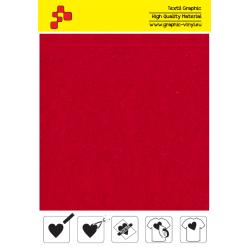 IDVCE04A Elektrizujicí červená (Arch) semišová nažehlovací fólie / iDigit