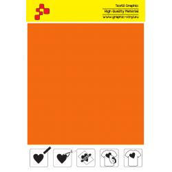 IDVCPNOA Neonová oranžová (Arch) semišová nažehlovací fólie / iDigit