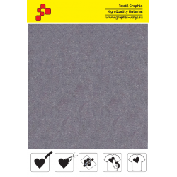 IDVCE19A Světle šedá (Arch) semišová nažehlovací fólie / iDigit