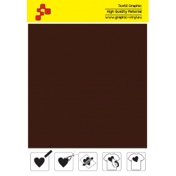 IDVCE14A Čokoládová (Arch) semišová nažehlovací fólie / iDigit