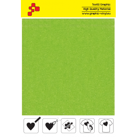 IDVCE23A Limetkově zelená (Arch) semišová nažehlovací fólie / iDigit